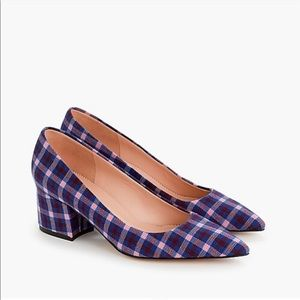 Brand New J. Crew Plaid Pumps
